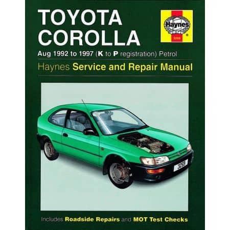 Corolla Petrol K to P 92-97 Revue technique Haynes TOYOTA Anglais