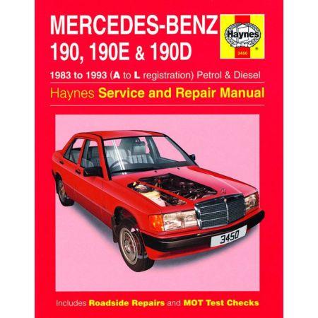 190 190E 190D 83-93 Revue technique Haynes MERCEDES Anglais