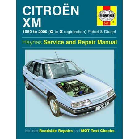 XM Petrol Diesel G to X 89-00 Revue technique CITROEN Haynes Anglais