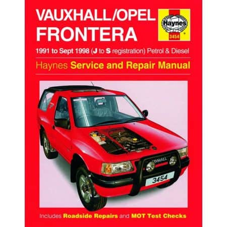 Frontera Petrol Diesel J to S 91-98 Revue technique Haynes OPEL Anglais