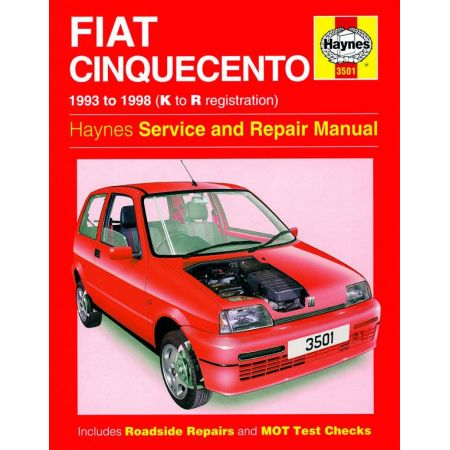 Cinquecento K to R 93-98 Revue technique Haynes FIAT Anglais
