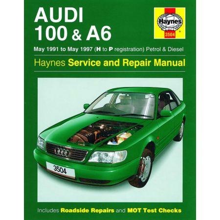 100 A6 Petrol Diesel H to P 05/91-05/97 Revue technique Haynes AUDI Anglais