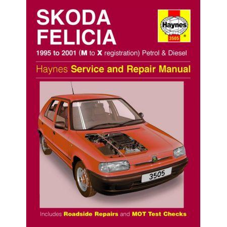 Felicia Petrol Die 95-01 Revue technique Haynes SKODA Anglais