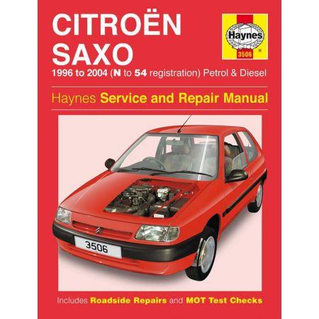 Saxo Petrol Diesel N to 54 96-04 Revue technique Haynes CITROEN Anglais