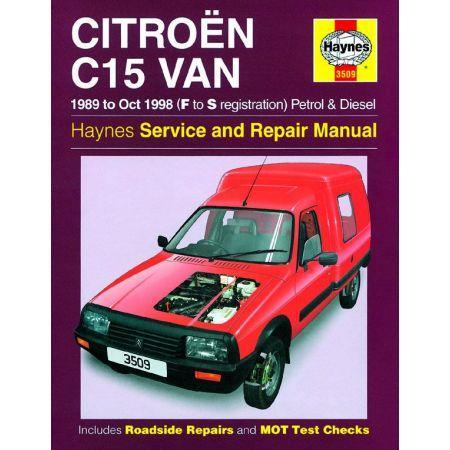 C15 Van Petrol Diesel F to S 89-98 Revue technique Haynes CITROEN Anglais