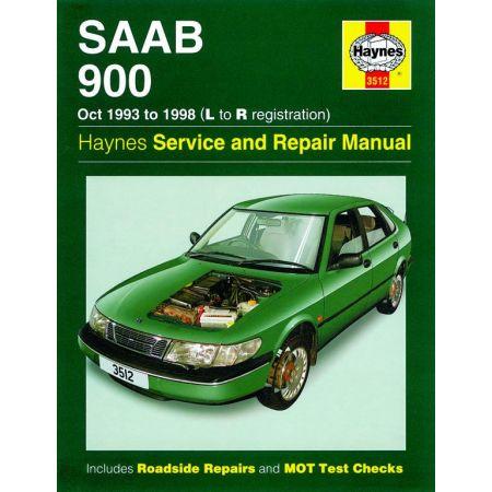 900 L to R 10/93-98 Revue technique Haynes SAAB Anglais