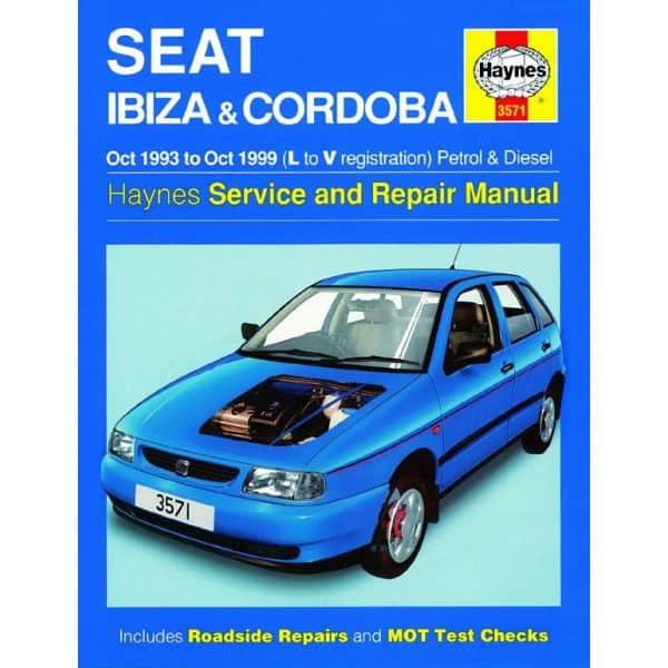 seat ibiza cordoba petrol diesel l to v 1993 1999 rth03571. Black Bedroom Furniture Sets. Home Design Ideas