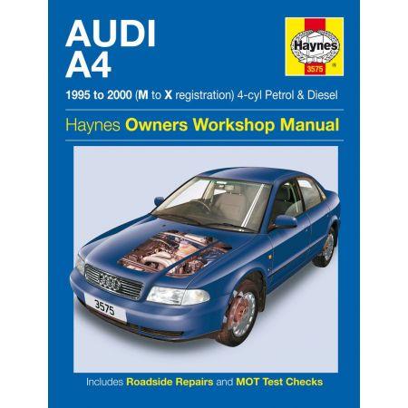 A4 Petrol Diesel M to X 95-00 Revue technique Haynes AUDI Anglais