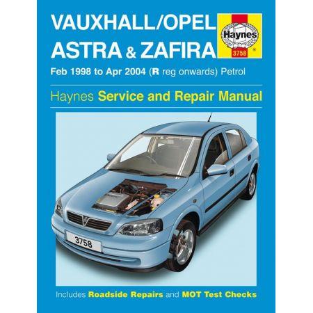 Astra Zafira 98-04 Revue technique Haynes OPEL Anglais