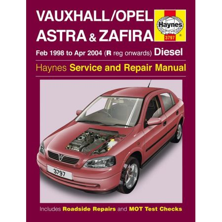Astra Zafira Die 98-04 Revue technique Haynes OPEL Anglais