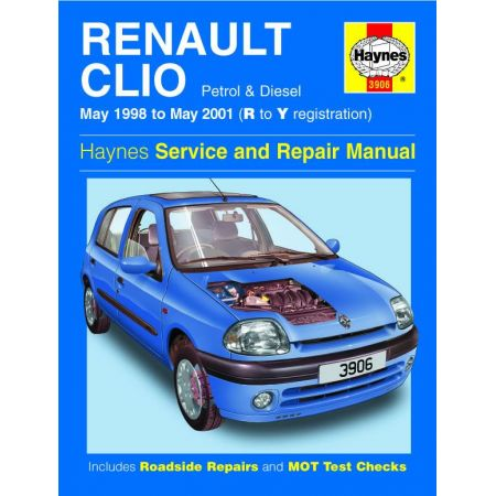 Clio Petrol Diesel R to Y 98-01 Revue technique Haynes RENAULT Anglais