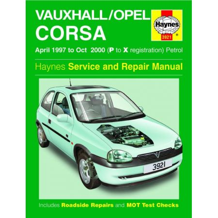 Corsa Petrol P to X 97-00 Revue technique Haynes OPEL VAUXHALL Anglais
