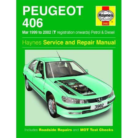 406 99-02 Revue technique Haynes PEUGEOT Anglais