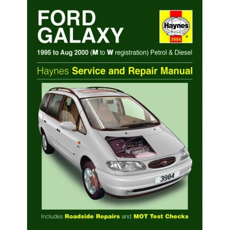 Galaxy Petrol Die 95-00 Revue technique Haynes FORD Anglais