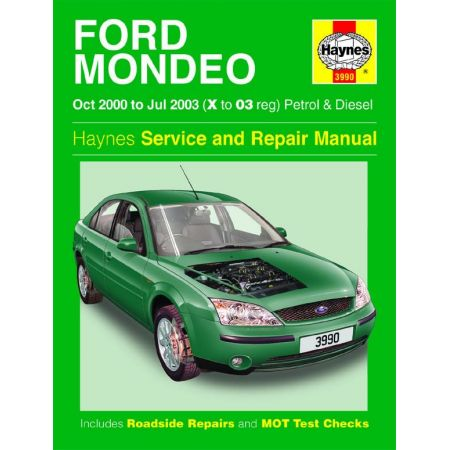Mondeo Petrol Diesel X to 03 00-03 Revue technique Haynes FORD Anglais