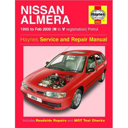 Almera Petrol N to V 95-00 Revue technique Haynes NISSAN Anglais