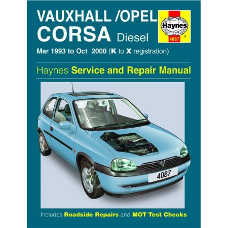 Corsa Diesel K to X 93-00 Revue technique Haynes OPEL VAUXHALL Anglais