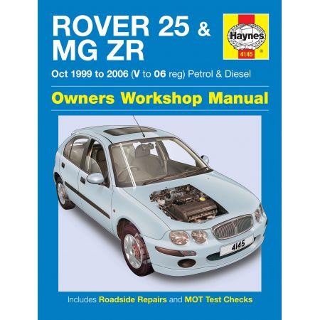 25 MG ZR 06 99-06 Revue technique Haynes ROVER Anglais