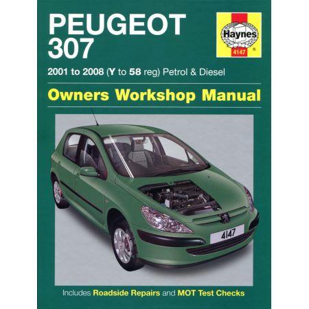 307 Petrol Die 01-08 Revue technique Haynes PEUGEOT Anglais