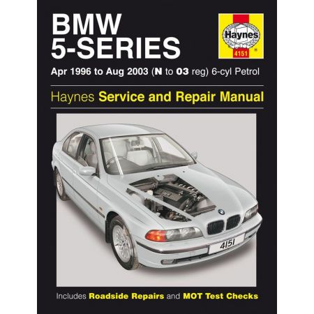 5-Series 6-cyl Petrol N to 03 96-03 Revue technique Haynes BMW Anglais