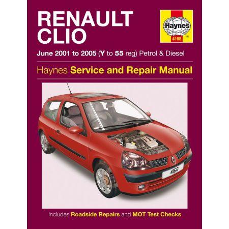 Clio Petrol Diesel Y to 55 01-05 Revue technique Haynes RENAULT Anglais