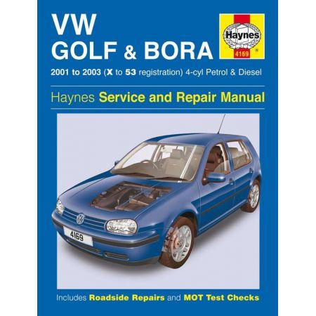 Golf Bora 4-cyl 01-03 Revue technique Haynes VW Anglais