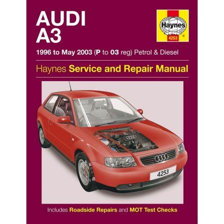 A3 Petrol Die 96-03 Revue technique Haynes AUDI Anglais