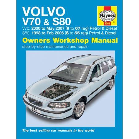 V70 S80 Petrol Diesel S to 07 98-07 Revue technique Haynes VOLVO Anglais