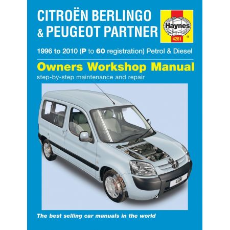 Berlingo Partner 96-10 Revue technique Haynes PSA Anglais