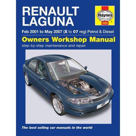 Laguna Petrol Die 01-07 Revue technique Haynes RENAULT Anglais