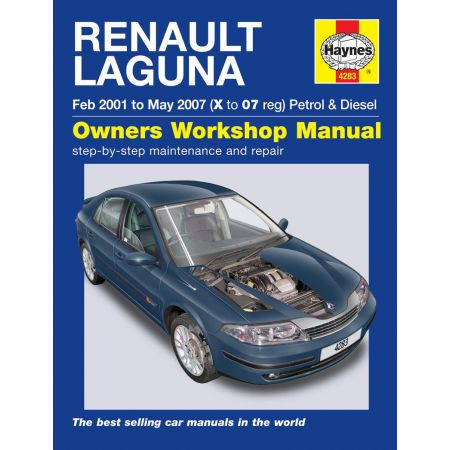 Laguna Petrol Diesel X to 07 01-07 Revue technique Haynes RENAULT Anglais
