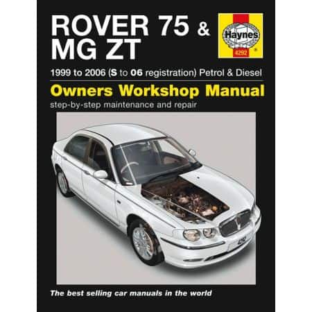 75 MG ZT Petrol Diesel S to 06 99-06 Revue technique Haynes ROVER Anglais