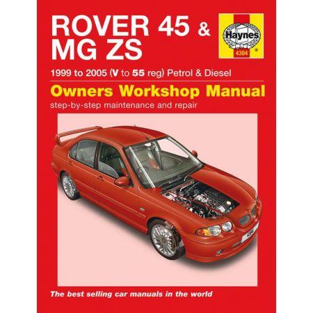 45 MG ZS 55 99-05 Revue technique Haynes ROVER Anglais
