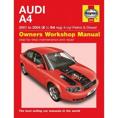 A4 Petrol Die 54 01-04 Revue technique Haynes AUDI Anglais