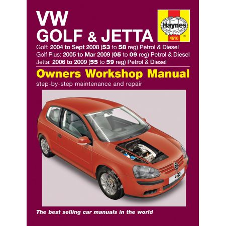 Golf et Plus Jetta 04-09 Revue technique Haynes VW Anglais