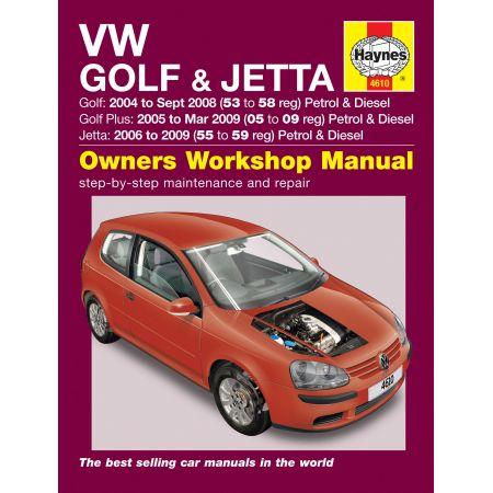 Golf Golf Plus Jetta 04-09 Revue technique Haynes VW Anglais