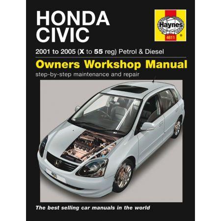 Civic 01-05 Revue technique Haynes HONDA Anglais