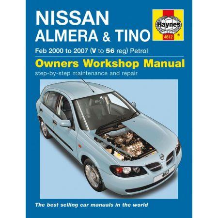 Almera Tino Petrol 00-07 Revue technique Haynes NISSAN Anglais