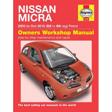 Micra 03-10 Revue technique Haynes NISSAN Anglais