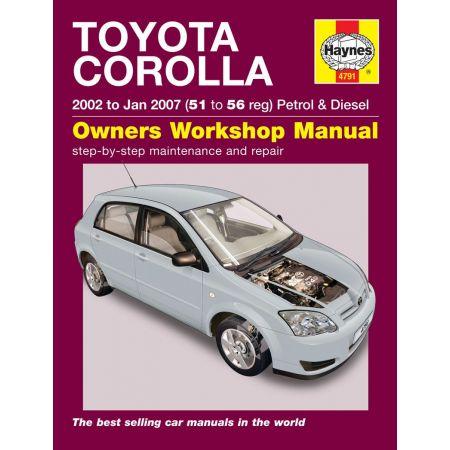 Corolla 02-07 Revue technique Haynes TOYOTA Anglais