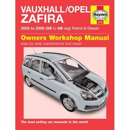 Zafira 05-09 Revue technique Haynes OPEL VAUXHALL Anglais