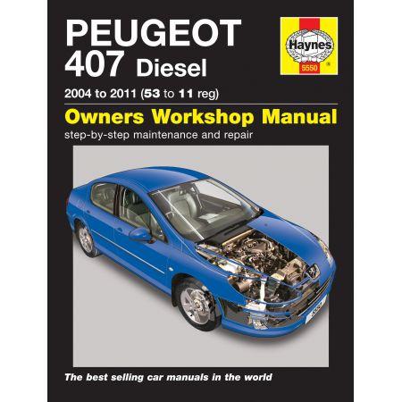 407 Diesel 04-11 Revue technique Haynes PEUGEOT Anglais