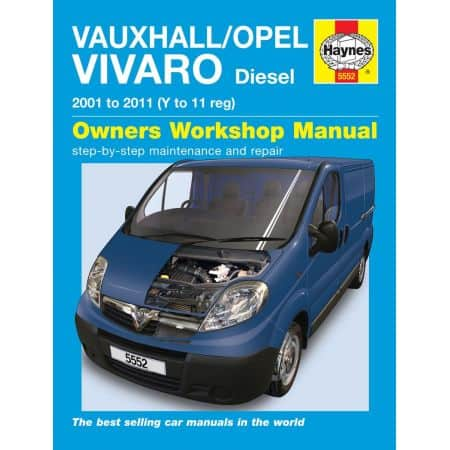 Vivaro Diesel 01-11 Revue technique Haynes OPEL VAUXHALL Anglais