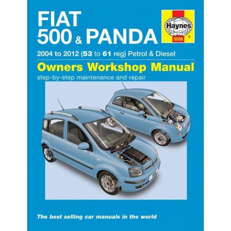 500 Panda 04-12 Revue technique Haynes FIAT Anglais