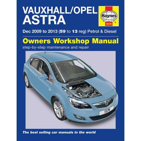 Astra 09-13 Revue technique Haynes OPEL VAUXHALL Anglais