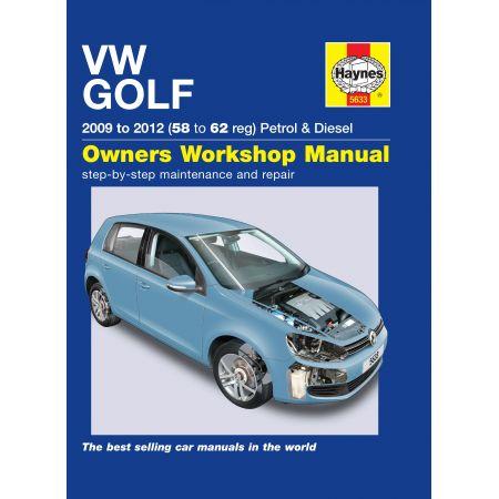 Golf 09-12 Revue technique Haynes VW VOLKSWAGEN Anglais