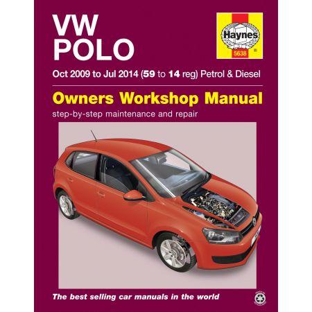 Polo 09-14 Revue technique Haynes VW VOLKSWAGEN Anglais