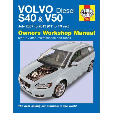 S40 V50 Die 07-13 Revue technique Haynes VOLVO Anglais