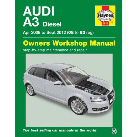A3 Diesel 04/08-09/12 Revue technique Haynes AUDI Anglais