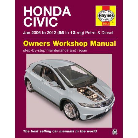 Civic 06-12 Revue technique Haynes HONDA Anglais